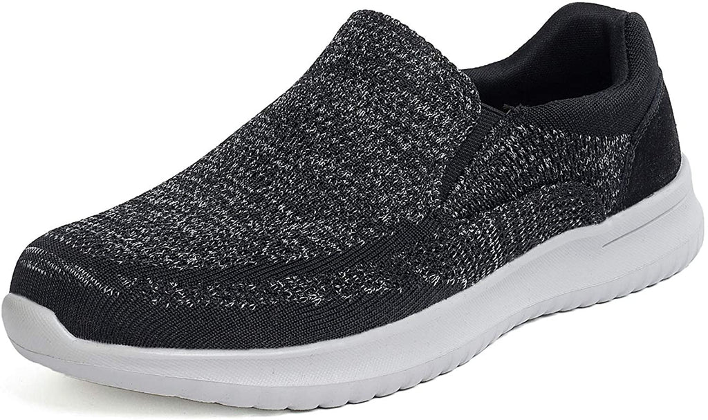 DAILYHAUTE MEN'S SHOES HEATHER GREY / 7.5 Braveman Men's Casual Slip-On Sneaker Style Comfort Loafers