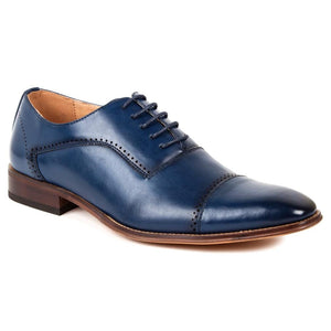 DAILYHAUTE MEN'S SHOES BLUE / 7.5 Gino Vitale Men's Cap Toe Oxford Shoes
