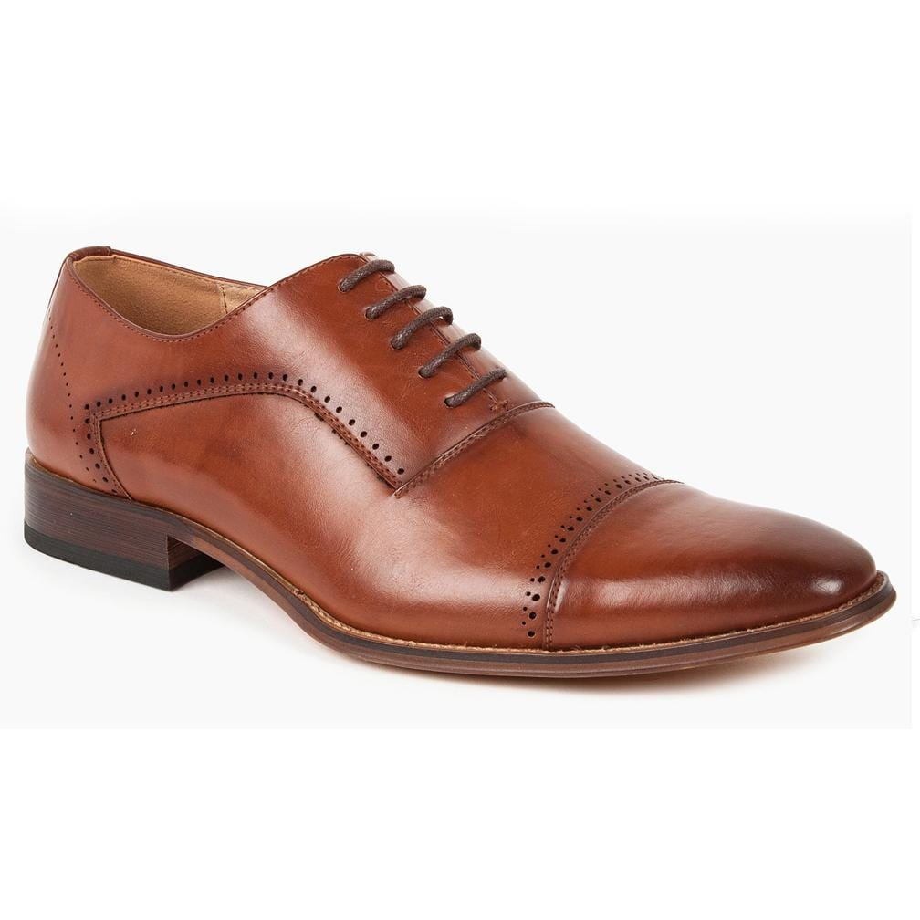 DAILYHAUTE MEN'S SHOES BROWN / 7.5 Gino Vitale Men's Cap Toe Oxford Shoes