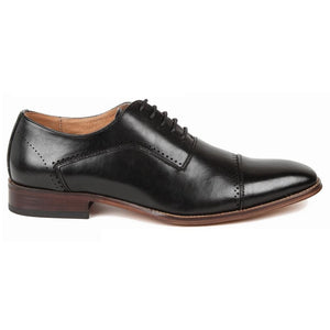 DAILYHAUTE MEN'S SHOES Gino Vitale Men's Cap Toe Oxford Shoes