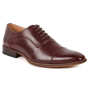 DAILYHAUTE MEN'S SHOES WINE / 7.5 Gino Vitale Men's Cap Toe Oxford Shoes