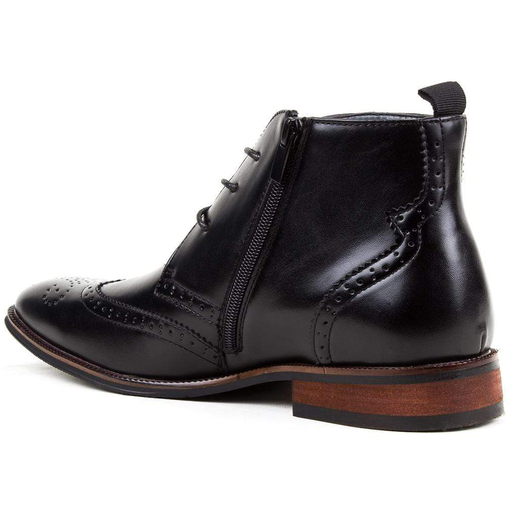 DAILYHAUTE MEN'S SHOES Gino Vitale Men's Wing Tip Brogue Boots