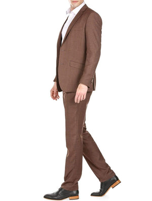 DAILY HAUTE Men's Suits Gino Vitale Light Glen Check Men's Slim Fit 2PC Suit
