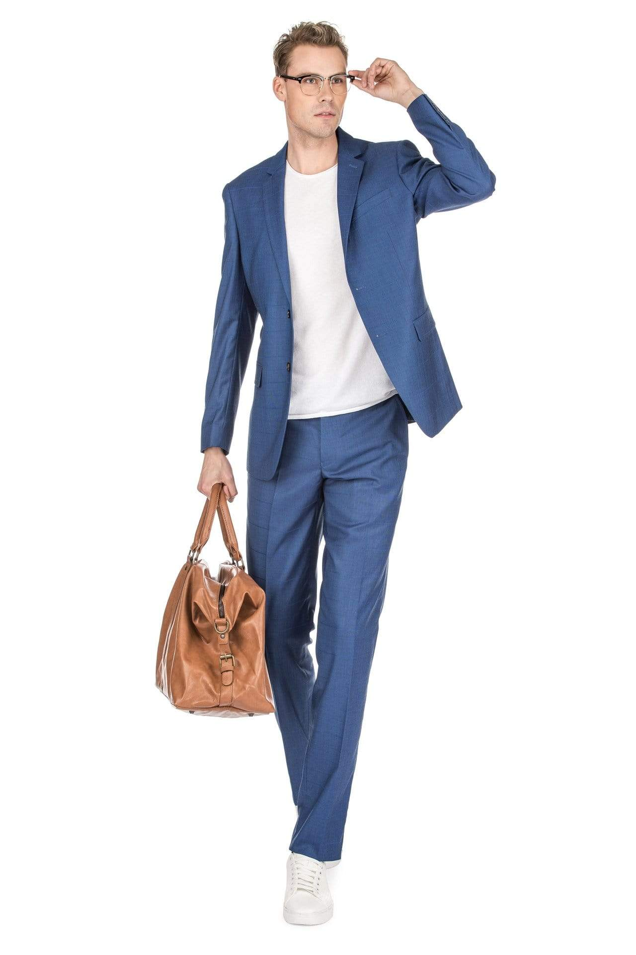DAILY HAUTE Men's Suits Gino Vitale Men's Check Slim Fit Suits