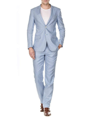 DAILY HAUTE Men's Suits Gino Vitale Men's Slim Fit Pure Linen 2pc Suits