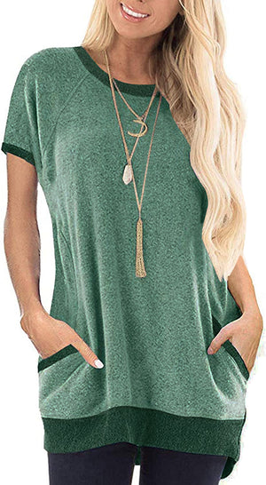 Haute Edition Cozy Knit Tunic Tee with Pockets