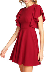 DAILYHAUTE Women's dress RED / S Haute Edition Women's Flared Skater Cocktail Party Dress