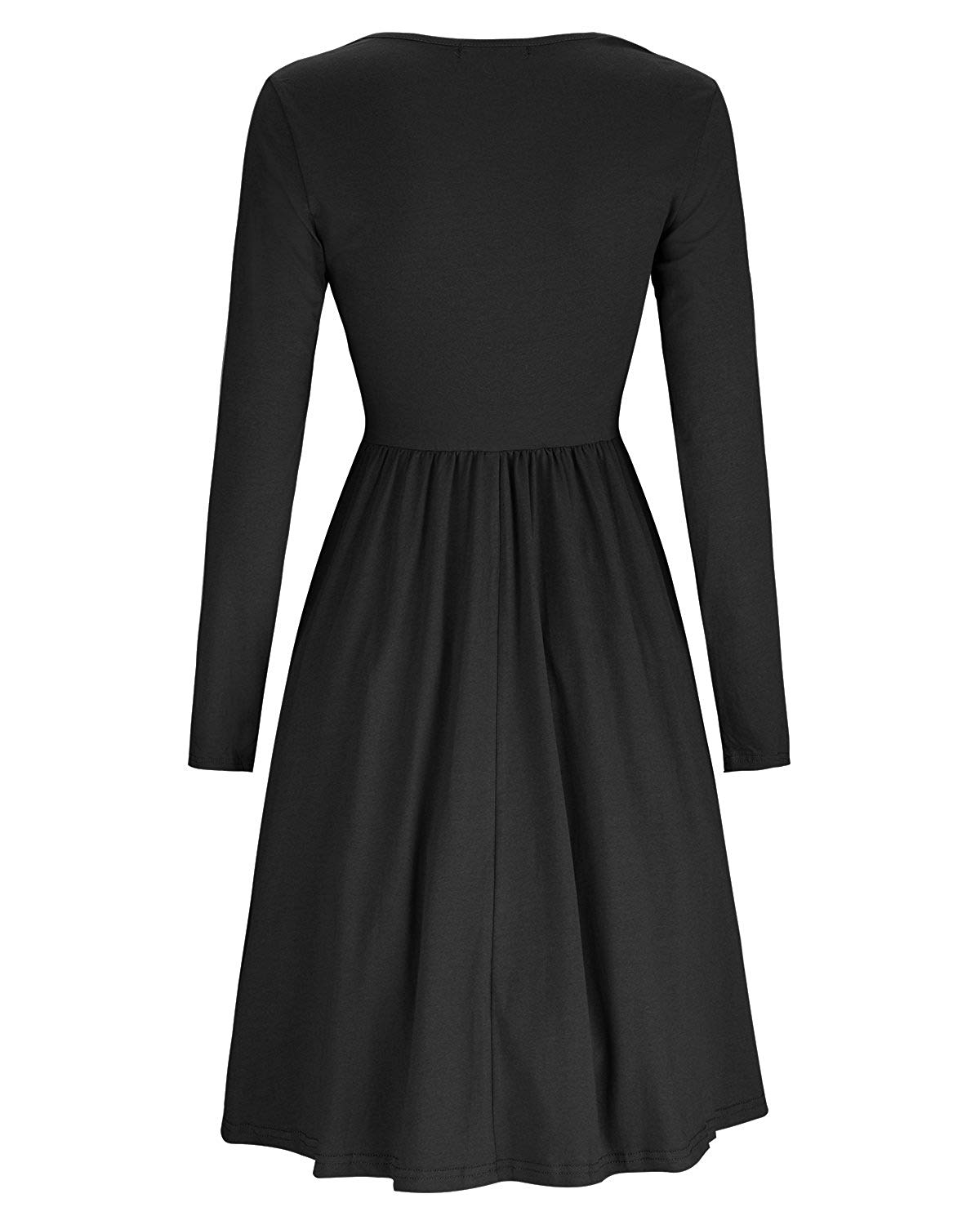 DAILYHAUTE Women's dress Haute Edition Women's Long Sleeve Button Down Dress with Pockets