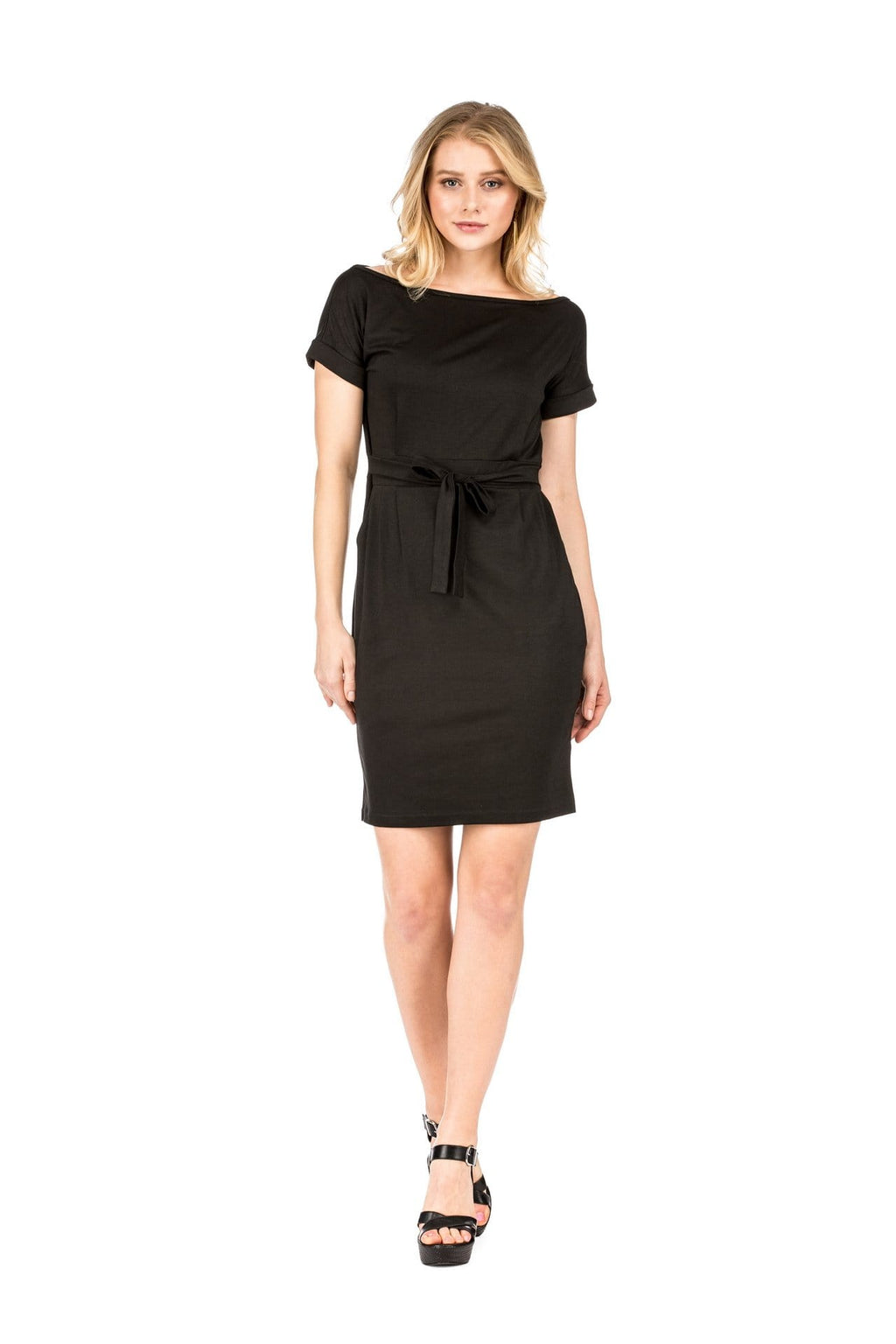 DAILYHAUTE Women's dress BLACK / S Haute Edition Women's Work Casual Pencil Dress With Pockets