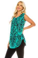 Haute Edition Women's Casual Flare Tunic Tank Tops With Buttons and Ruching