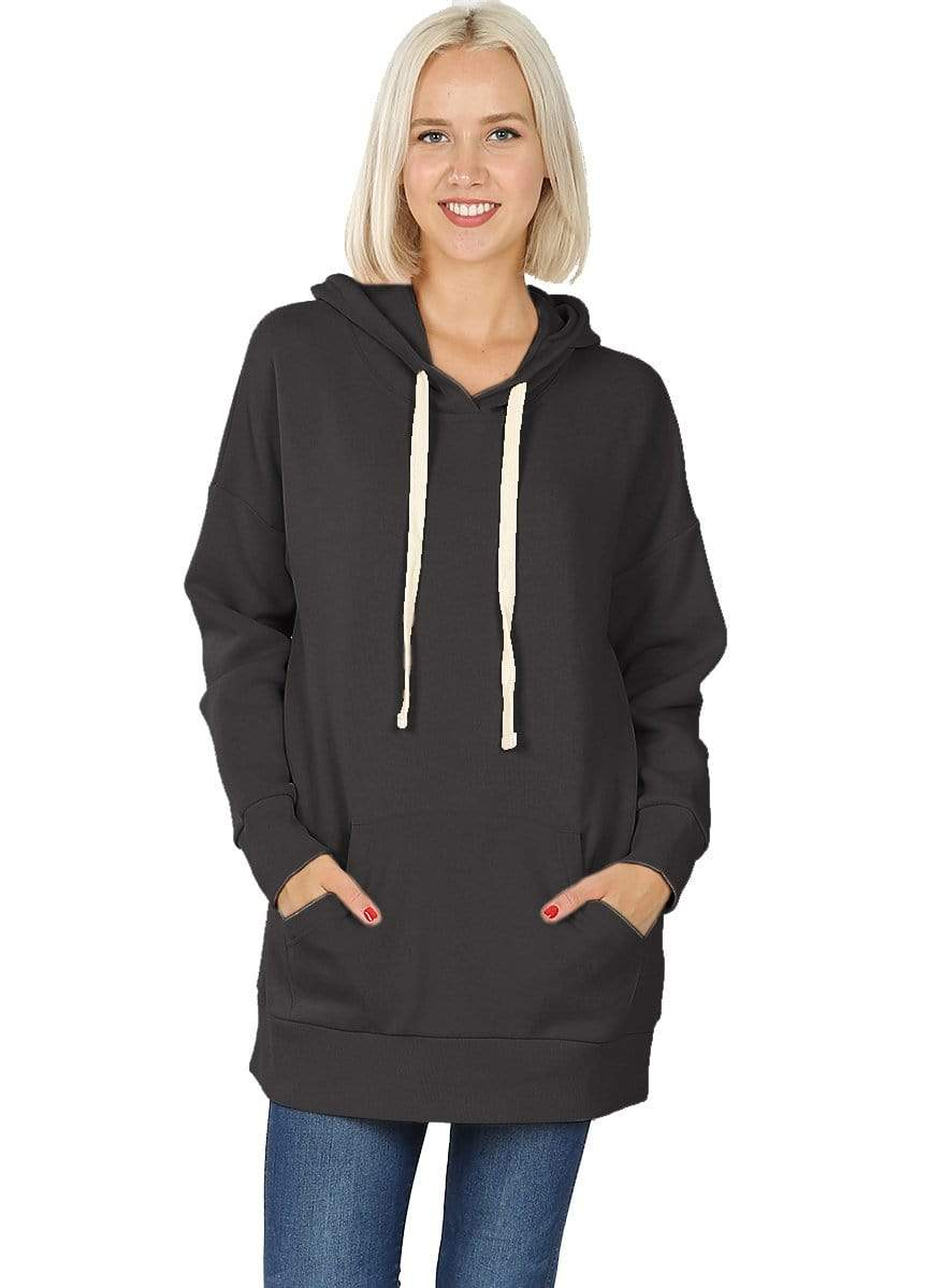 DAILYHAUTE WOMEN'S TOP BLACK / S Haute Edition Women's Fashion Fleece Lined Pullover Hoodies