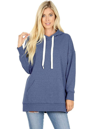 DAILYHAUTE WOMEN'S TOP BLUE / S Haute Edition Women's Fashion Fleece Lined Pullover Hoodies