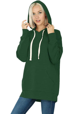 DAILYHAUTE WOMEN'S TOP GREEN / S Haute Edition Women's Fashion Fleece Lined Pullover Hoodies