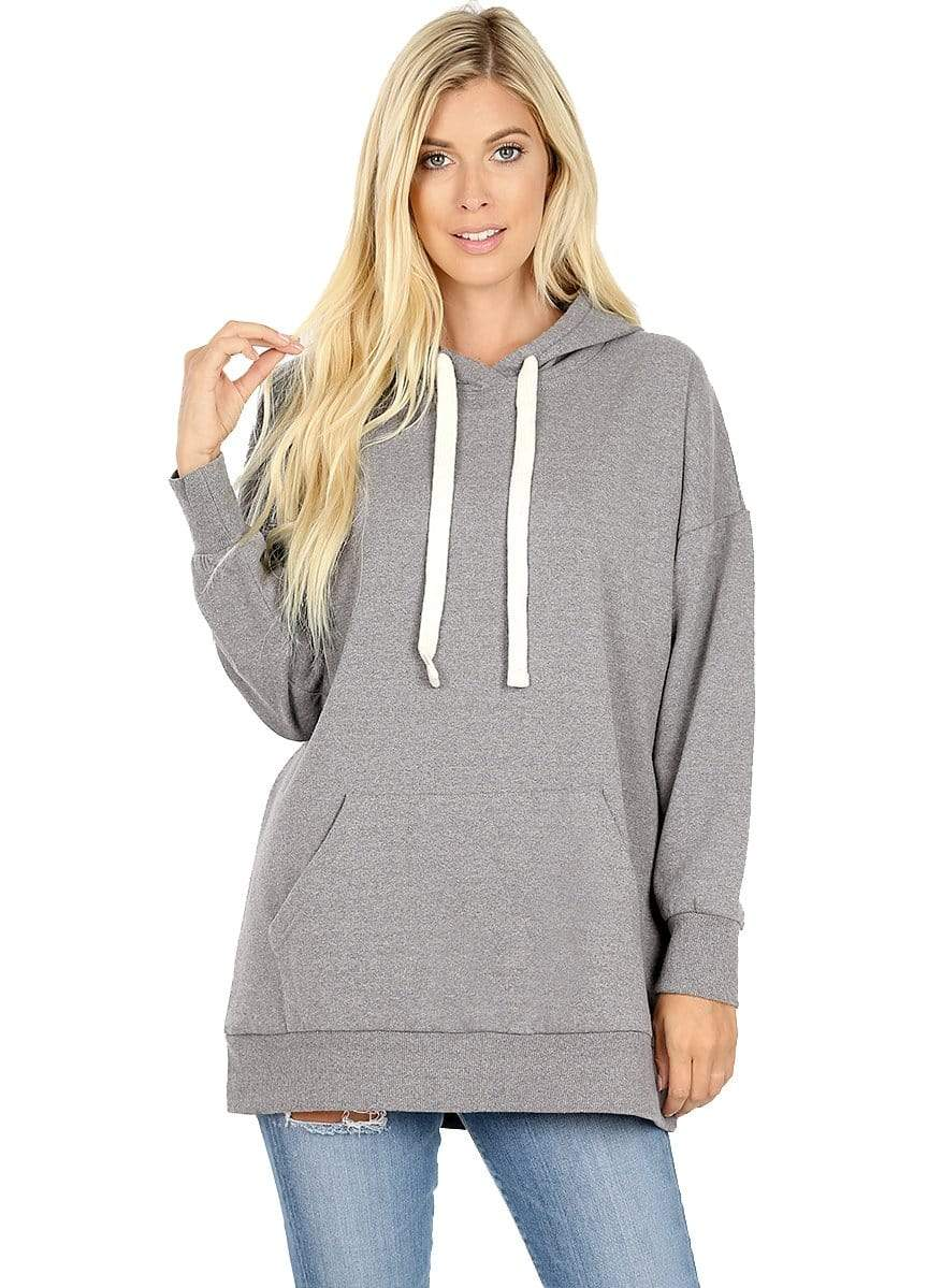 DAILYHAUTE WOMEN'S TOP GREY / S Haute Edition Women's Fashion Fleece Lined Pullover Hoodies