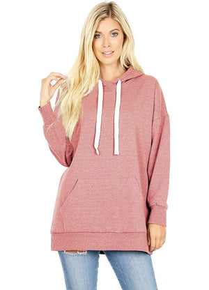 DAILYHAUTE WOMEN'S TOP PINK / S Haute Edition Women's Fashion Fleece Lined Pullover Hoodies