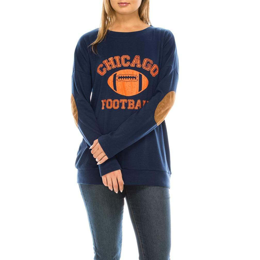 Haute Edition WOMEN'S TOP CHICAGO / S Haute Edition Women's Game Day Football Sweatshirt