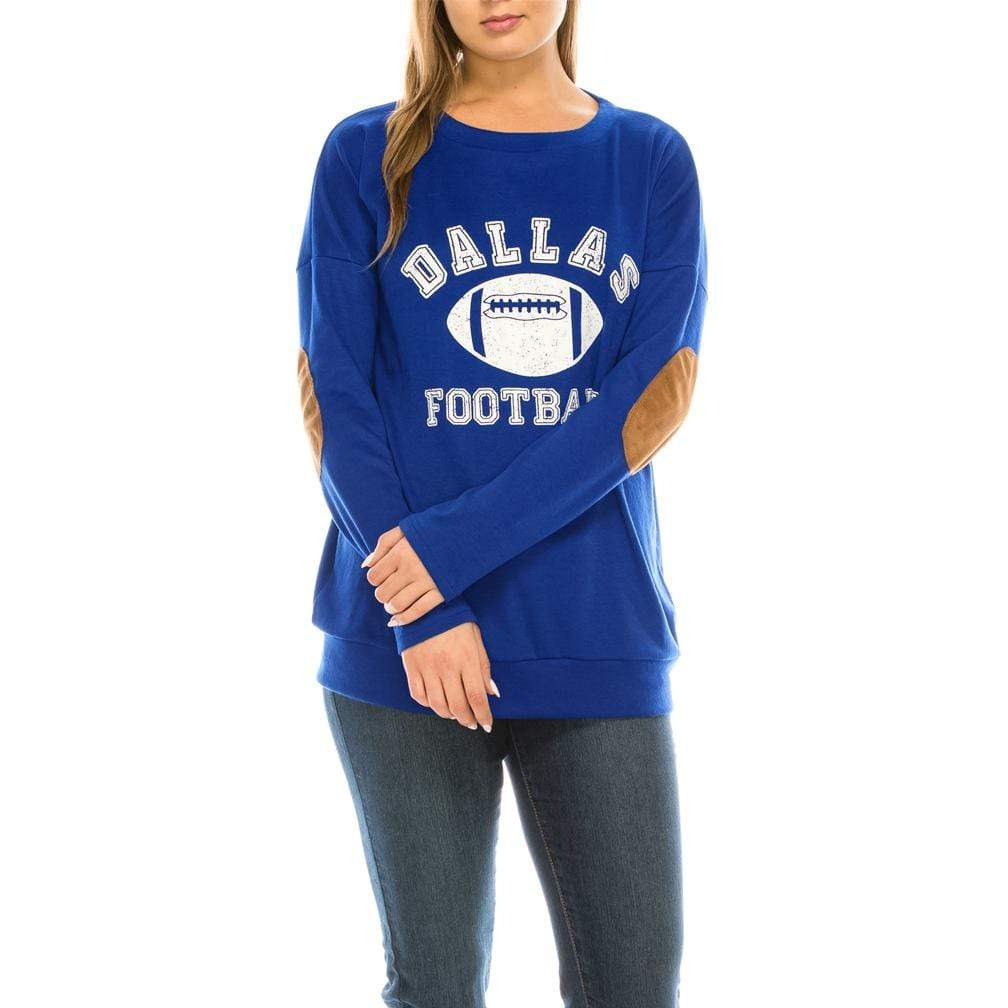 Haute Edition WOMEN'S TOP DALLAS / S Haute Edition Women's Game Day Football Sweatshirt