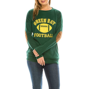 Haute Edition WOMEN'S TOP GREEN BAY / S Haute Edition Women's Game Day Football Sweatshirt