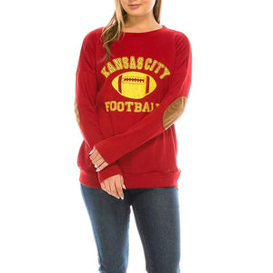 Haute Edition WOMEN'S TOP KANSAS CITY / S Haute Edition Women's Game Day Football Sweatshirt