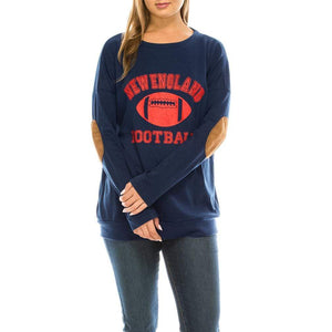 Haute Edition WOMEN'S TOP NEW ENGLAND / S Haute Edition Women's Game Day Football Sweatshirt