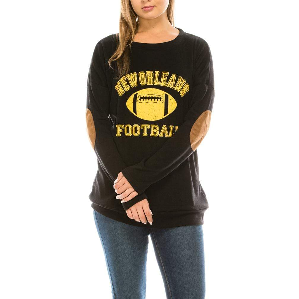 Haute Edition WOMEN'S TOP NEW ORLEANS / S Haute Edition Women's Game Day Football Sweatshirt