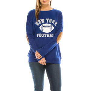 Haute Edition WOMEN'S TOP NEW YORK / S Haute Edition Women's Game Day Football Sweatshirt