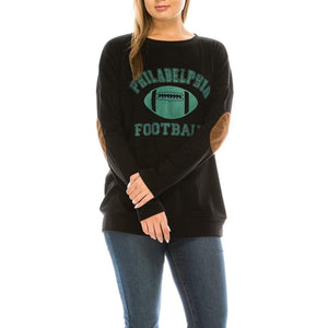 Haute Edition WOMEN'S TOP PHILADELPHIA / S Haute Edition Women's Game Day Football Sweatshirt