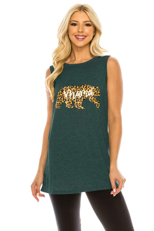 Haute Edition WOMEN'S TOP SEA GREEN / S Haute Edition Women's Mama Bear Loose Fit Tank top. Plus size available