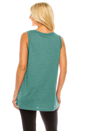 Haute Edition WOMEN'S TOP Haute Edition Women's Sunshine Loose Fit Tank top. Plus size available