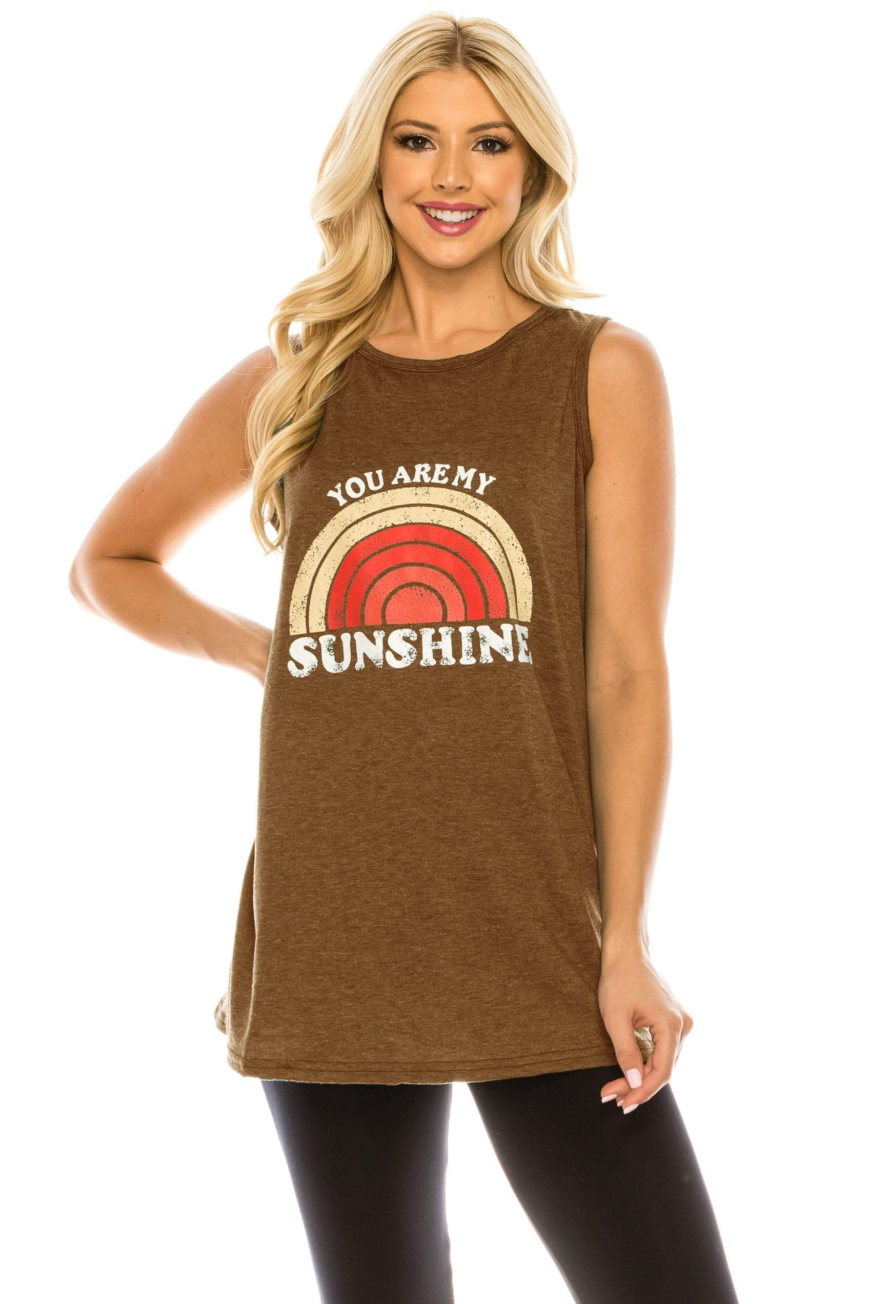 Haute Edition WOMEN'S TOP ORANGE / S Haute Edition Women's Sunshine Loose Fit Tank top. Plus size available
