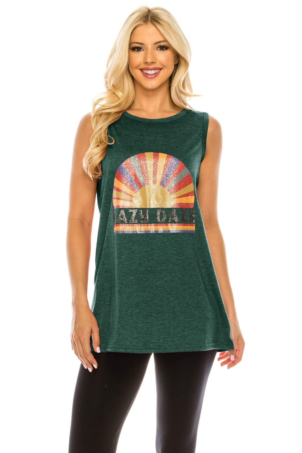 Haute Edition WOMEN'S TOP SEA GREEN / S Haute Edition Women's Sunshine Loose Fit Tank top. Plus size available
