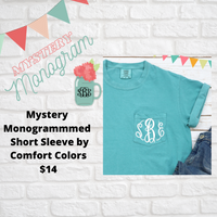 Mystery Monogrammed Comfort Color Shirts