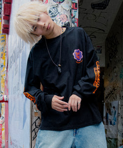 BAD BOY PARODY LOGO PRINT LONG SLEEVE TEE/ 9852