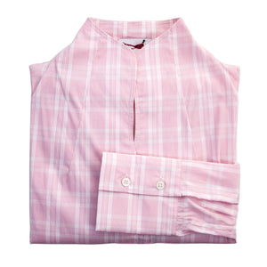 'Stephanie' Shirt - Soft Pink Check