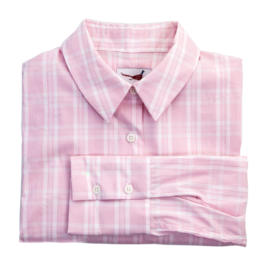 'Alexandra' Shirt - Soft Pink Check
