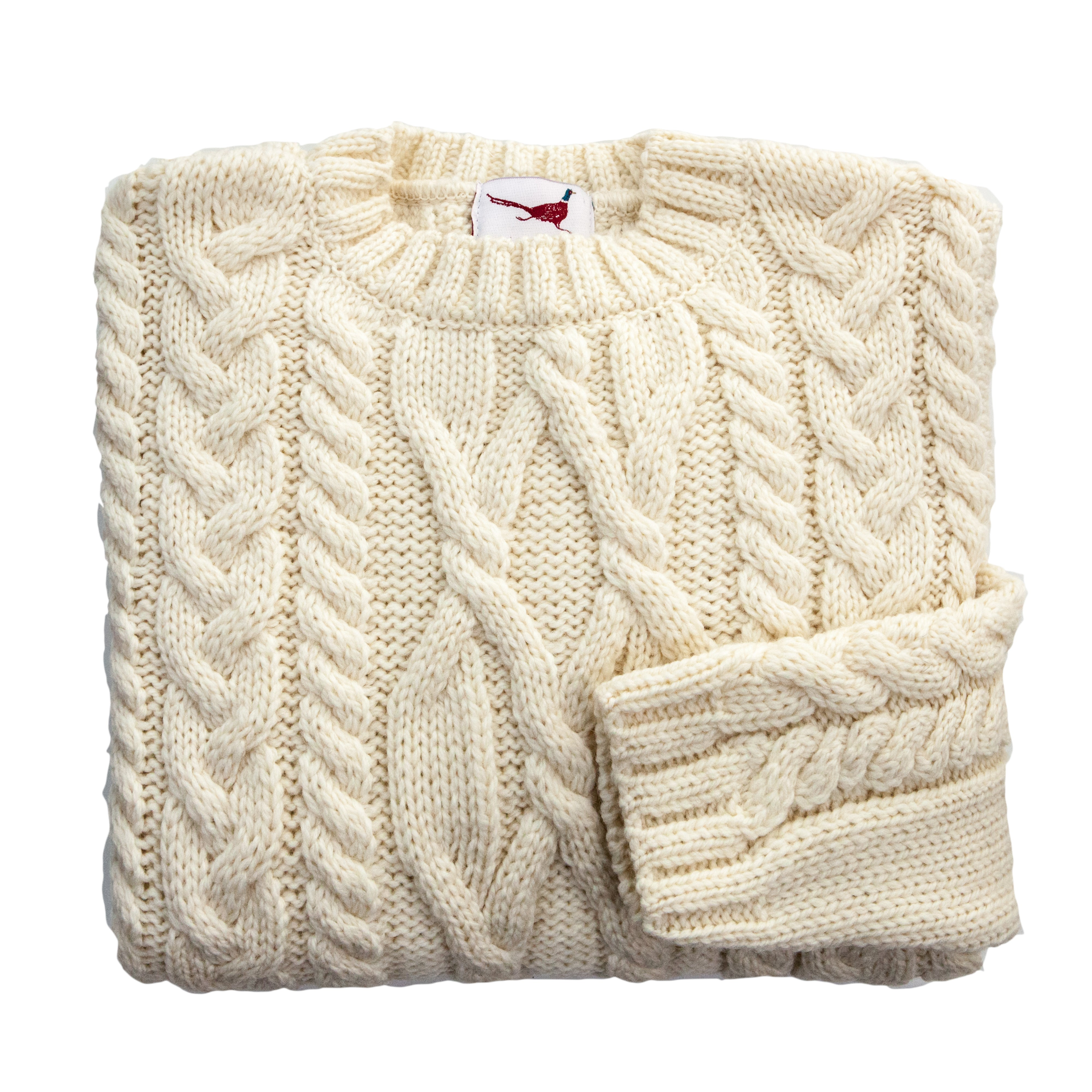 U&W | Ladies Country Jumper - Cream Merino Wool Jumper
