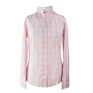 Blue 'Amy' Jumper & Pink Check 'Stephanie' Shirt