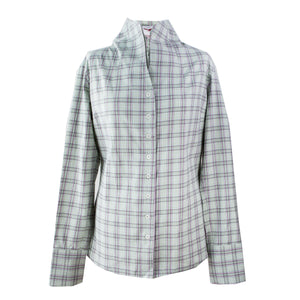 U&W | Ladies Shooting Shirt - Green, Cream and Pink