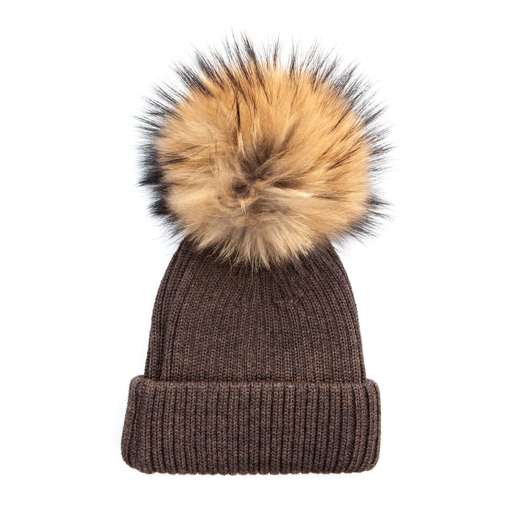 U&W | Ladies Country Accessories - Brown Bobble Hat