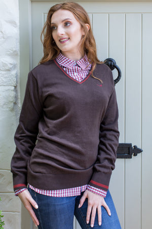 Brown 'Amy' Jumper & Rust 'Alexandra' Shirt