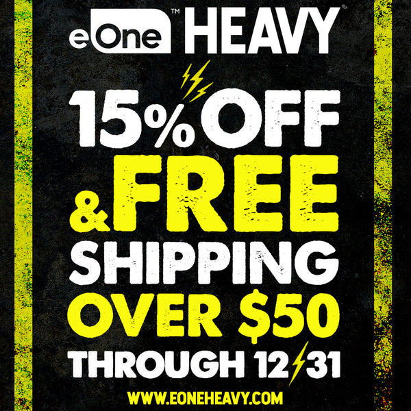 eOne Heavy Holiday Sale: 15% off Everything, Free Shipping on US orders over $50