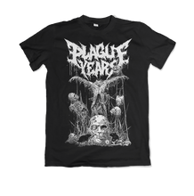 "Load image into Gallery viewer, Plague Years - ""Circle of Darkness"" Shirt 02 + Vinyl Bundle (Pre-Order)"