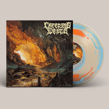 "Load image into Gallery viewer, Creeping Death - ""Wretched Illusions"" Tangerine Bone & Baby Blue Vinyl LP"