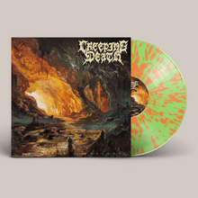 "Load image into Gallery viewer, Creeping Death - ""Wretched Illusions"" Green Glow In The Dark w/Orange Splatter LP Vinyl"