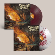 "Load image into Gallery viewer, Creeping Death - ""Wretched Illusions"" Blood Red Clear LP x Wretched Illusions Grape Galaxy"