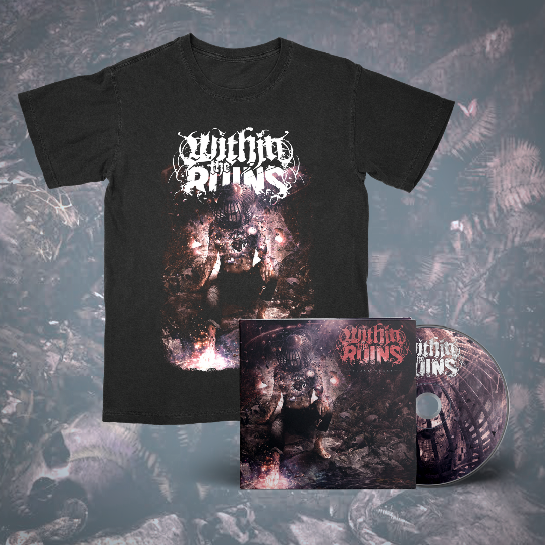 Within The Ruins – Black Heart CD + Shirt Bundle