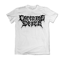 "Load image into Gallery viewer, Creeping Death - ""Paint Drip White"" Shirt"