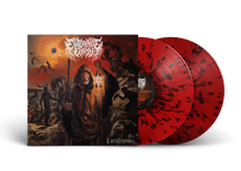 "Load image into Gallery viewer, Enterprise Earth - ""Luciferous"" Red w/ Black Splatter Vinyl LP"
