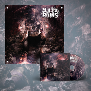 Within The Ruins – Black Heart CD + Flag Bundle