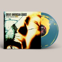 "Load image into Gallery viewer, Great American Ghost - ""Power Through Terror"" Sea Blue & Canary Yellow Vinyl LP"